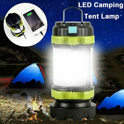 USB Rechargeable Outdoor Camping Lamp Torch Power Bank LED Lantern Tent Lights • 13.98£