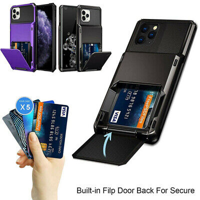 AU12.98 • Buy For IPhone 11 12 Pro Max XR 7 8 Plus SE Wallet Card Slot Holder Armor Case Cover
