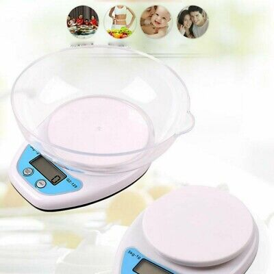 1g-5kg Digital Kitchen Scales Lcd Electronic Cooking Food Measuring Bowl Scale • 7.39£