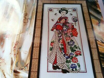 Cross Stitch Charts Beautiful Geisha Lady Oriental  Woman  Chart  • 2.99£