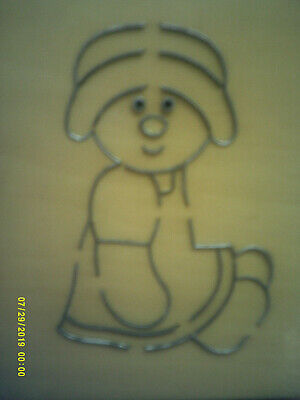 RAGDOLL GIRL BEAR  *  With DRESS & HAT *  Wooden Die Cutter  + FREE CRAFT GIFTS • 8.99£
