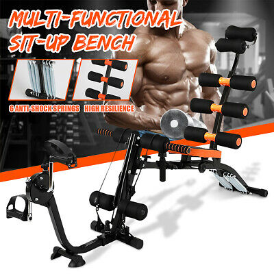 Adjustable Sit Up Dumbbell Bench Fitness Aerobic Exercise Workout Gym Training  • 49.99£