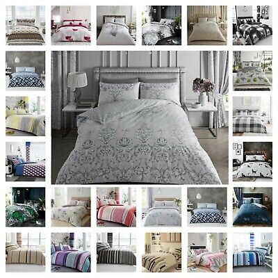 Duvet Cover With Pillow Cases Single Double King Size UK Quilt Cover Bedding Set • 13.99£