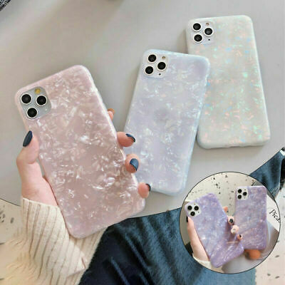 Case For IPhone 12 11 8 7 Plus Pro MAX XR ShockProof Marble Phone Silicone Cover • 3.99£