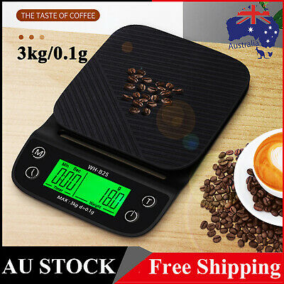 AU18.50 • Buy 3kg LCD High Definition LED Hand-made Coffee Electronic Scale Kitchen Scale T6I0