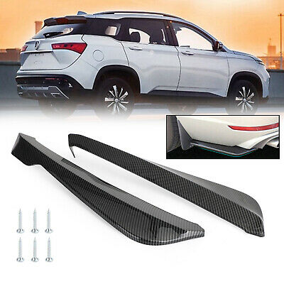 $ CDN26.35 • Buy Carbon Fiber Car Rear Bumper Fin Canard Splitter Diffuser Valence Spoiler Lip