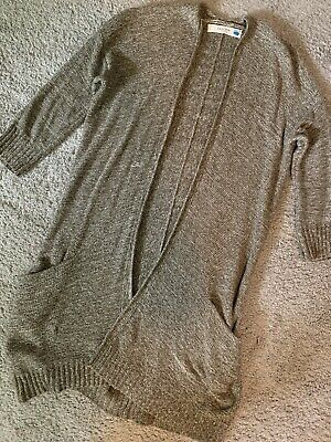 $ CDN12.87 • Buy SPARROW Anthropologie Green Open Front Duster Cardigan Sweater Pocket Size S