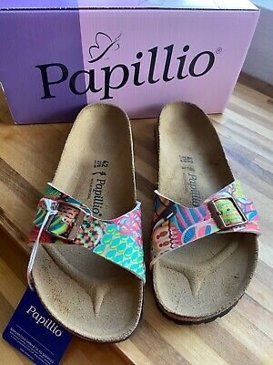 Birkenstock Papillio Madrid African Wax Raspberry Sandal Narrow Size 8 Eu 42 New • 36£