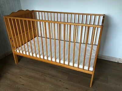 Mamas And Papas Pine Cot/bed, With Matching Wood Cot Top Changer • 25£