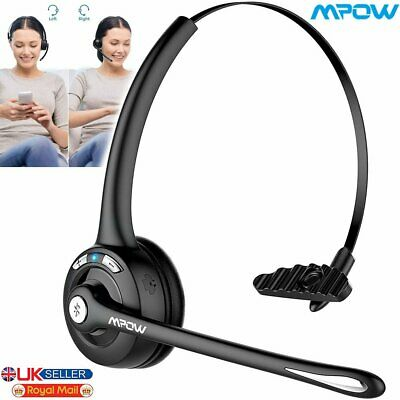 Bluetooth Stereo Headset Headphones Microphone Light Weight For PC Laptop Skype • 18.69£