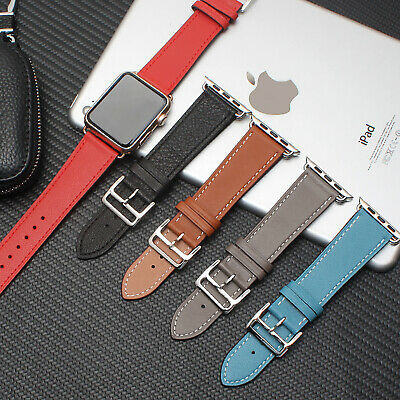 AU12.99 • Buy Leather IWatch Band Strap Wrist Bracelet Replacement For Apple Watch 5 4 3 2 1