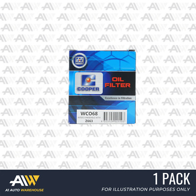 AU18.96 • Buy Wco68 Wesfil Cooper Oil Filter Z663