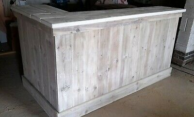 £450 • Buy Shop Counter Business Reception Desk Industrial Distressed Driftwood Shabby Chic