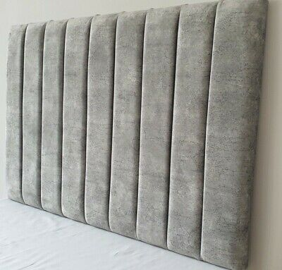 £69.99 • Buy Super Padded Headboard Bed Head In Marble Velvet - 20  Or 28  Free Delivery