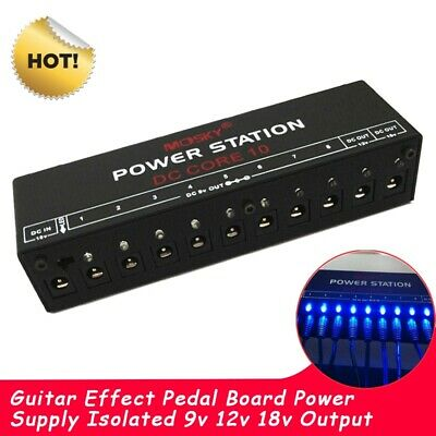 $ CDN46.32 • Buy Guitar Effect Pedal Board Power Supply  Isolated 9v 12v 18v Output US/EU/UK Plug