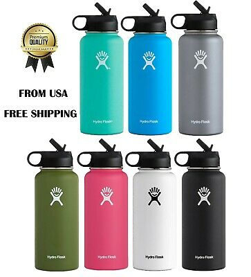 $31.59 • Buy Hydro Flask 32 Oz Water Bottle Stainless Steel ,Vacuum Insulated With Straw Lid