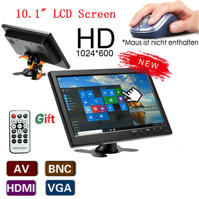 10.1'' HD Car LCD Monitor Mini TV & Computer Display Screen Monitor VGA HDMI BNC • 52.99£