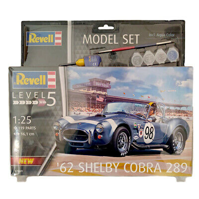 Revell 67669 '62 Shelby Cobra 289 Model Set (Level 5) (Scale 1:25) • 29.99£