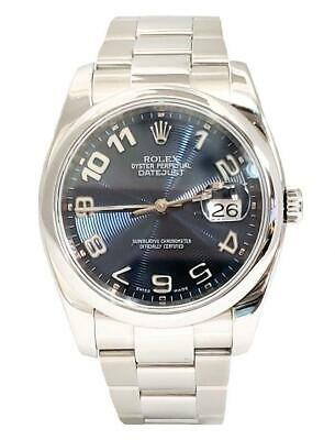 $ CDN7944.30 • Buy 36mm Rolex Datejust Oyster Perpetual Automatic Blue Concentric Dial Watch 116200