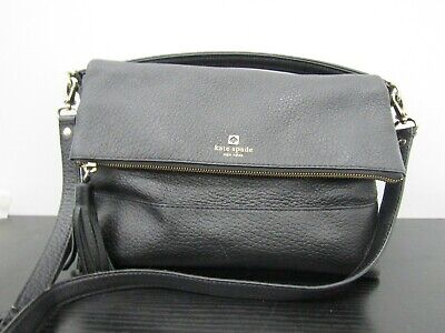 $ CDN33.51 • Buy Kate Spade Cobble Hill Flap Women's Black Leather Crossbody Shoulder Bag