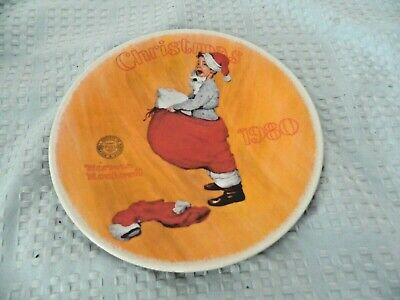 $ CDN13.32 • Buy Norman Rockwell Christmas Plate 1980  Scotty Plays Santa  Knowles China Plate