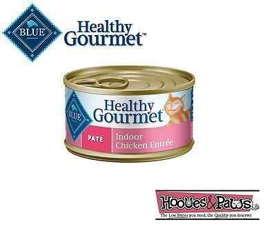 Blue Buffalo Healthy Gourmet Wet Canned Cat Food Adult Indoor Chicken Pate 3oz • 25.05£
