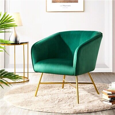 £82.99 • Buy Modern Velvet Accent Chair Dining Chair Side Armchair Living Room/Cafe/Kitchen