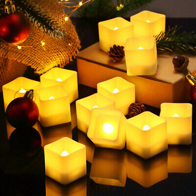 12PCS Flameless Candles Flickering LED Candle Tea Lights Battery Powered Wedding • 8.99£