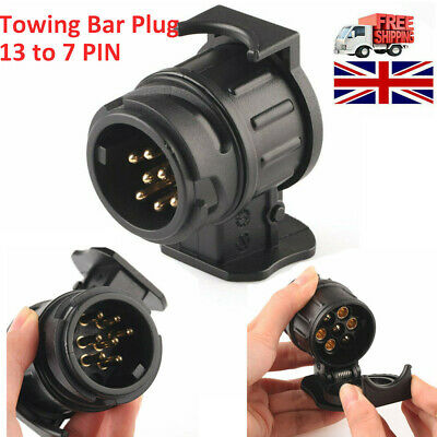 13 To 7 Pin Trailer Truck Electric Towing Converter Tow Bar Plug Adaptor Socket • 5.31£
