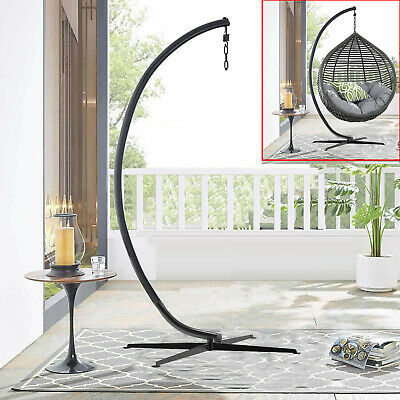 Solid Metal Hanging Chair Stand Heavy Lounge Chair Stand Holders Durable Outdoor • 99.94£