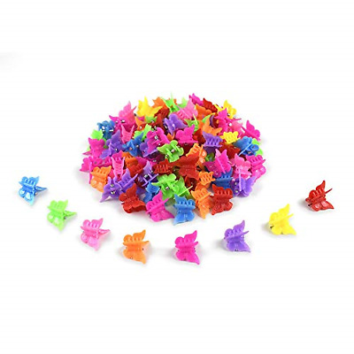 $7.79 • Buy Mini Hair Plastic Butterfly Clips Accessories For Women Girls 100 Pcs Hairclips