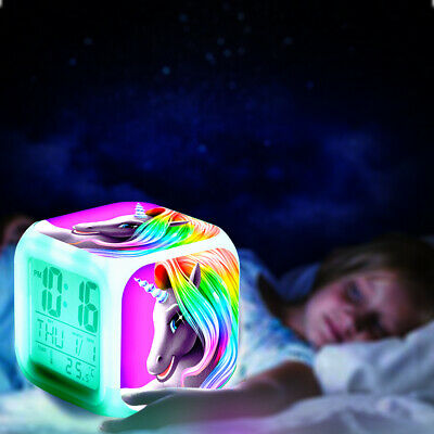 AU17.95 • Buy Kids Digital Alarm Clock Wake-up Light LED Glowing Night Lamp Christmas Gift AU