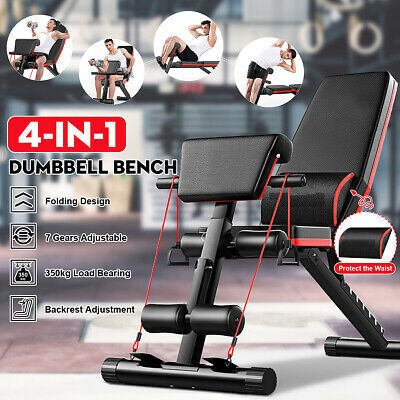 Adjustable Fitness Dumbbell Bench Sit Up Chair Home Incline Flat Gym Exercise UK • 68.99£