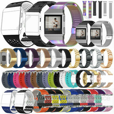 AU9.82 • Buy For Fitbit Ionic Stainless Steel Mesh Silicone Bracelet Wrist Bands Watch Strap