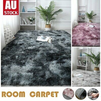 AU29.90 • Buy Rectangle Shaggy Carpet Bedroom Living Room Floor Pads Mat Soft Fluffy Area Rugs