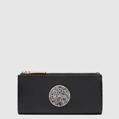 AU88.85 • Buy MIMCO BLISS FOLD WALLET BLACK ROSE GOLD Leather Authentic New With Tag RRP179