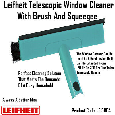 Leifheit Telescopic Window Cleaner With Brush And Squeegee 51104 • 22.95£