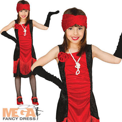 £10.49 • Buy Charleston Flapper Girls Fancy Dress 1920s Gatsby Kids Book Day Costume Outfit