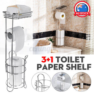 AU29.98 • Buy Stainless Steel Toilet Paper Shelf Tissue Rack Holder Roll Stand Storage Home  !