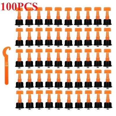 100PC Tile Leveling System Kits Leveler Tile Spacer Wall Floor Tool Construction • 9.99£
