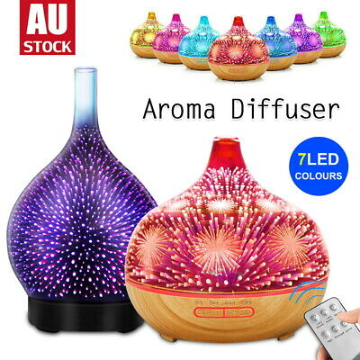 AU38.50 • Buy Aromatherapy Diffuser Aroma Essential Oils Ultrasonic Air Humidifier 3D Firework