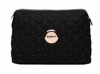 AU60.95 • Buy Mimco Black Large Cosmos Case Cosmetic Makeup Rosegold Hardware Authentic BNWT
