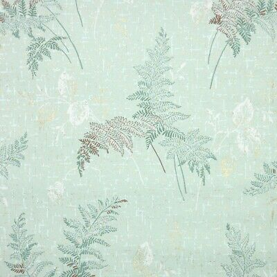 £39.85 • Buy 1950s Botanical Vintage Wallpaper Green Fern Leaves With Godl Metallic Accents