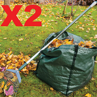 £7.99 • Buy 2 X 150L Garden Waste Bags - Heavy Duty Large Refuse Storage Sacks With Handles