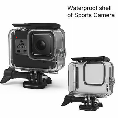 For Gopro Hero 8 Black Camera Case Shell 60m Underwater Waterproof Accessories • 12.32£