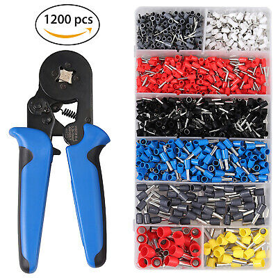 Ratchet Cable Wire Crimper Plier Crimping Tool 500x Electrical Terminals Box Kit • 18.20£