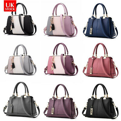 Fashion Women Leather Handbag Briefcase Lady Messenger Shoulder Bag Tote Satchel • 15.59£