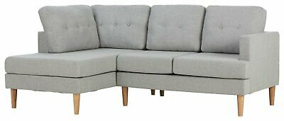 Argos Home Joshua Fabric Left Hand Corner Sofa - Light Grey • 400£