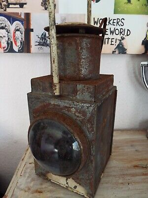 Large Vintage Railway Signal Lamp 44x20 3350g Welcome Pick Up Preston Or Deliver • 59.99£