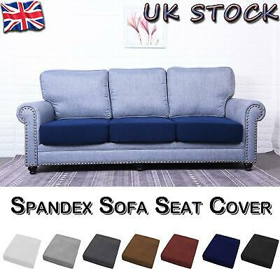 1/2/3/4 Seats Sofa Seat Cover Couch Slipcover Cushion Elastic Spandex Protector • 8.79£